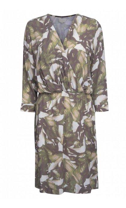 Minus Ana Dress Palm Green