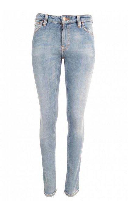 Nudie Jeans Skinny Lin Clean Stone Indigo
