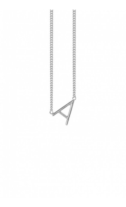 Anna + Nina Initial Letter Necklace A Silver