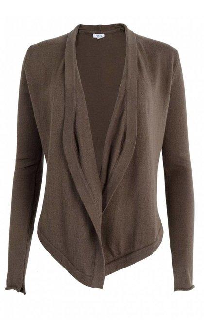 Fabriq Boutique Shawl Knit Cardigan Taupe