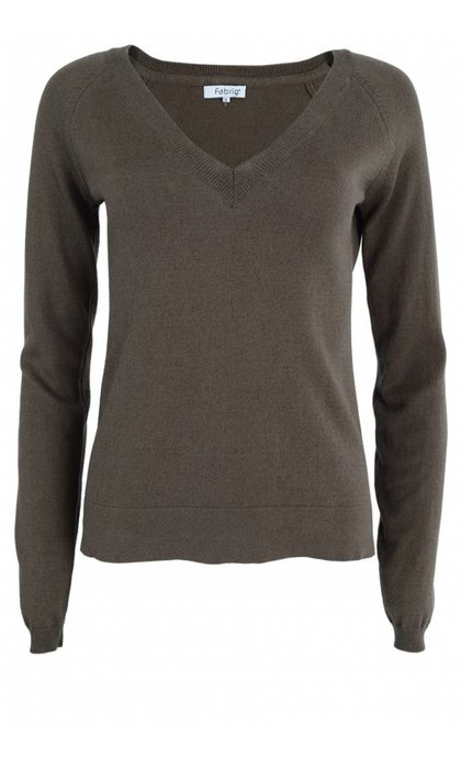 Fabriq Boutique V-Neck Knit Taupe