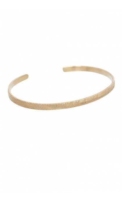 Anna + Nina Herringbone Cuff Goldplated