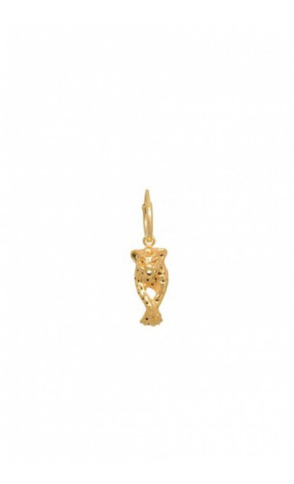 Anna + Nina Single Leopard Ring Earring Goldplated