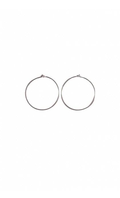 Fashionology Sleeper Hoop Earrings Silver 20mm
