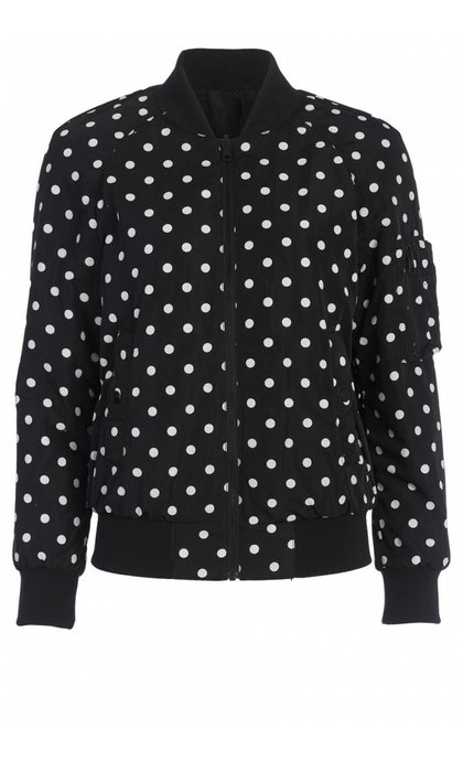 French Connection Dotty Spot Bomber