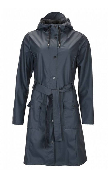 Rains Curve Jacket Navy