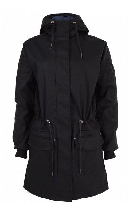 Modstrom Lena Long Black / Navy Night Summer Coat