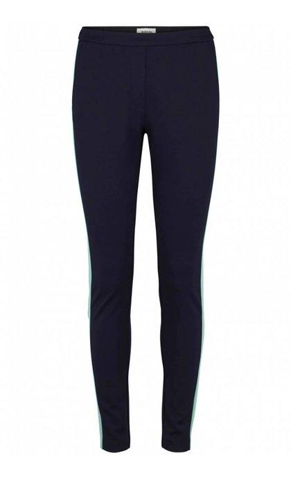 Modstrom Tanny Stripe Pants Navy Sky/Mint