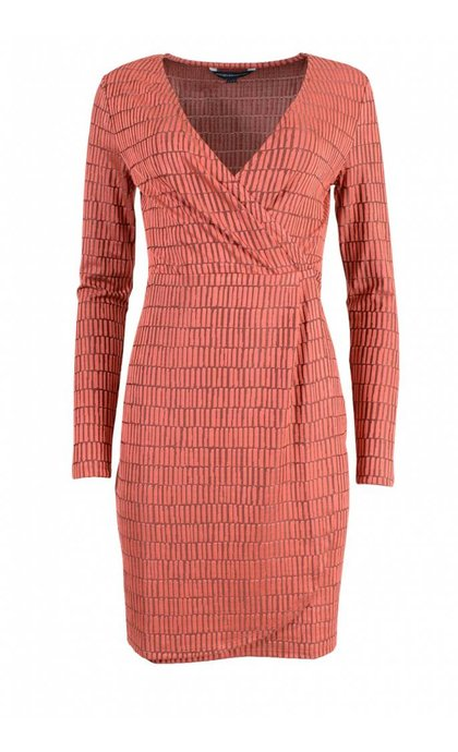 French Connection Linear Jazquard Dress Cosmo