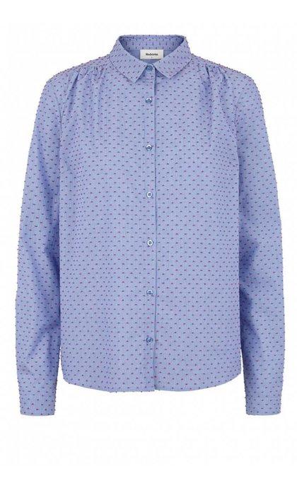 Modstrom Filucca Shirt Blue/Rose Dot