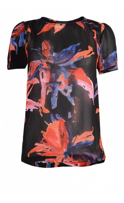 Storm & Marie Bloom SS Top All Over Print