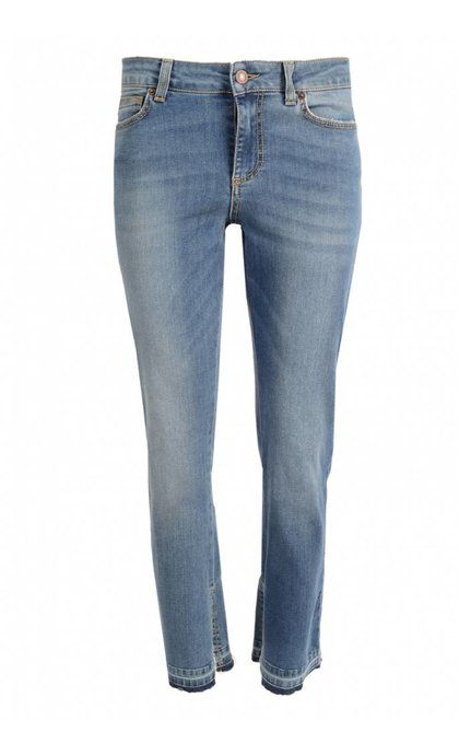 Hunkydory Jinx Slit Denim Mid Indigo With Abrasion