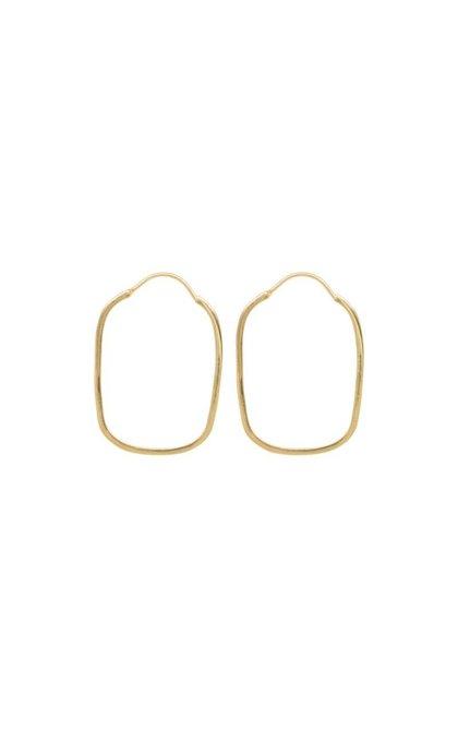 Anna + Nina Link Hoop Earring Goldplated