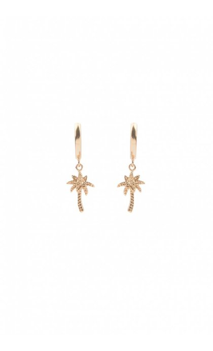 All the Luck in the World Souvenir Earrings Palm Tree Goldplated