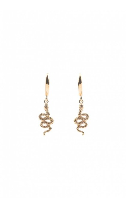 All the Luck in the World Souvenir Earrings Snake Goldplated
