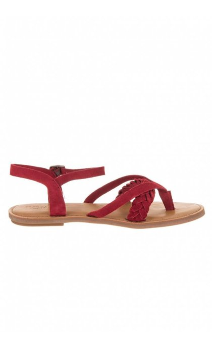 Toms Lexie Red Suede Sand