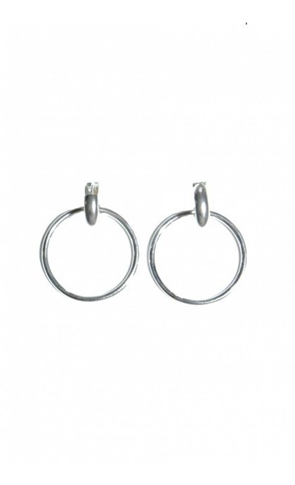 Fashionology Orbit Earrings Sterling Silver