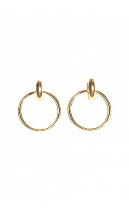Fashionology Orbit Earrings Goldplated