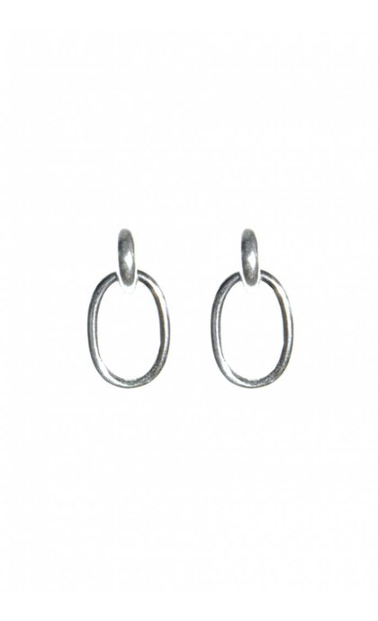 Fashionology Ellipse Earrings Sterling Silver