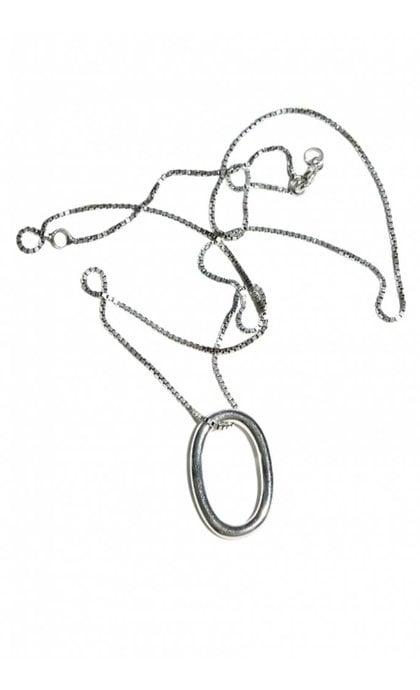 Fashionology Ellipse Necklace Sterling Silver