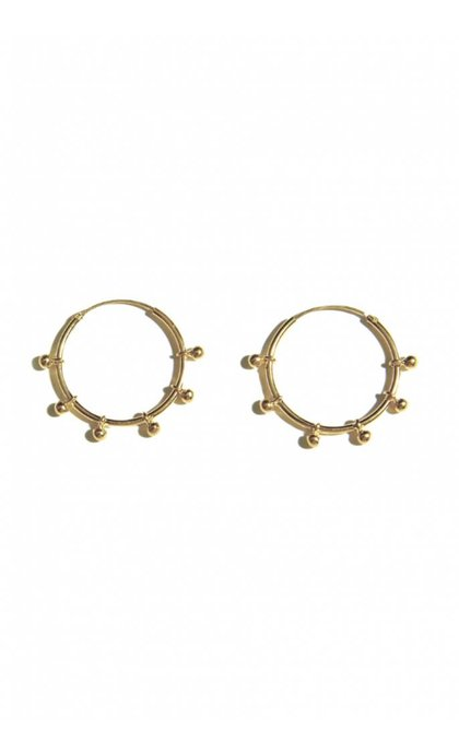 Fashionology River Hoop Earring Goldplated