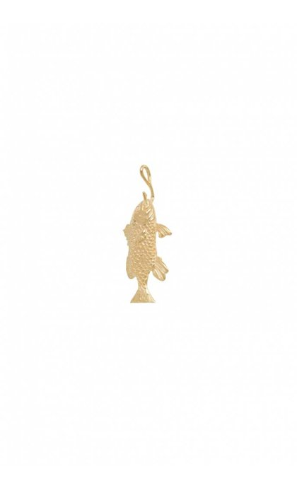 Anna + Nina Fish Necklace Charm Goldplated