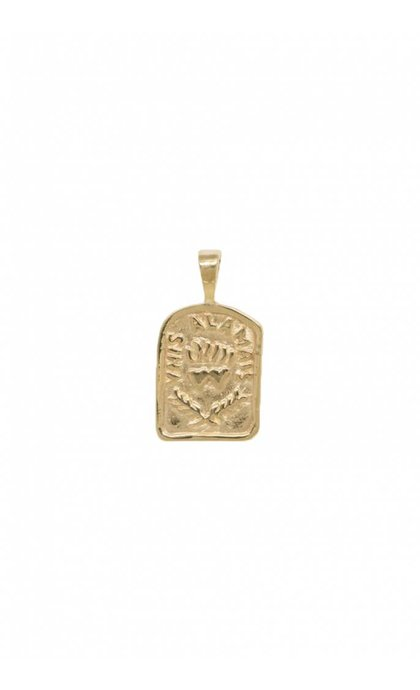 Anna + Nina Medallion Necklace Charm Goldplated