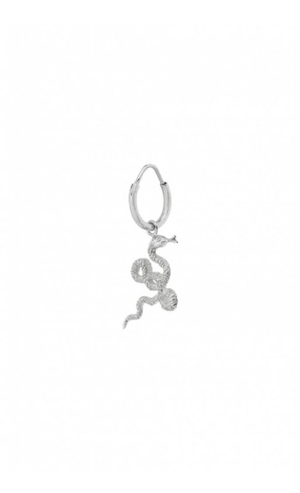 Anna + Nina Single Snake Earring Small Silver
