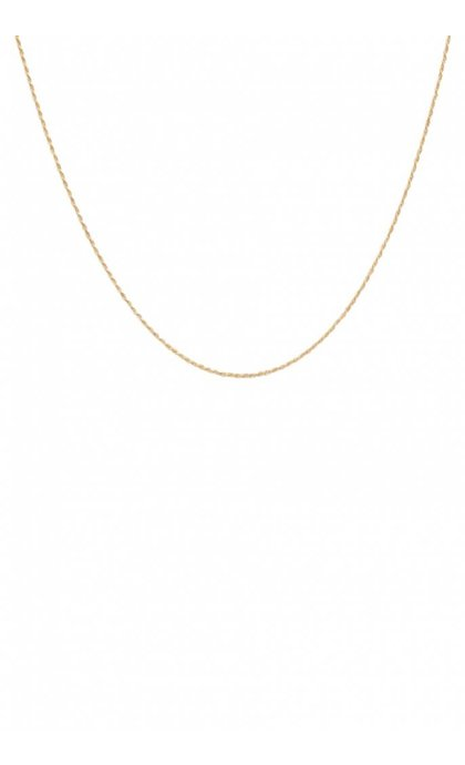 Anna + Nina Twisted Plain Necklace Long Goldplated