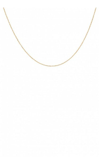Anna + Nina Twisted Plain Necklace Short Goldplated