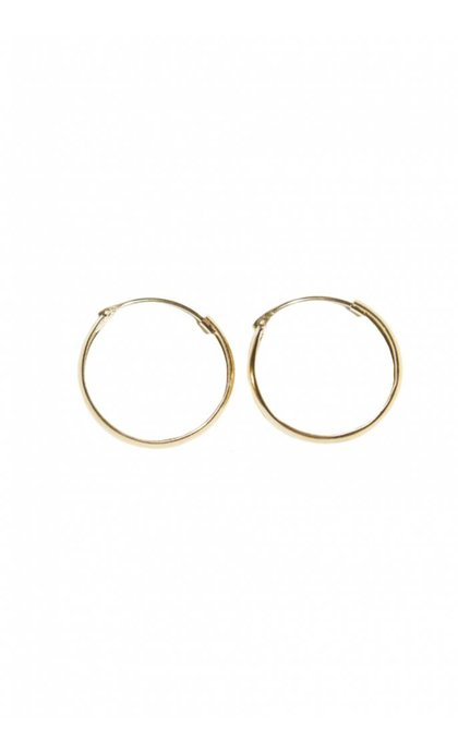 Fashionology Thick Hoop Earrings Goldplated