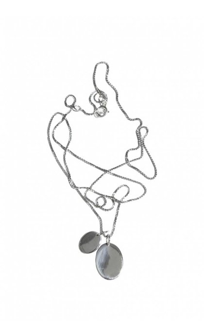 Fashionology Braque Necklace Sterling Silver