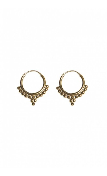 Fashionology Dali Hoop Earrings Goldplated