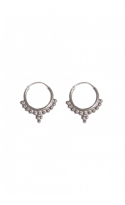 Fashionology Dali Hoop Earrings Sterling Silver