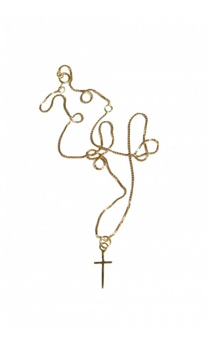 Fashionology Cross Necklace Goldplated