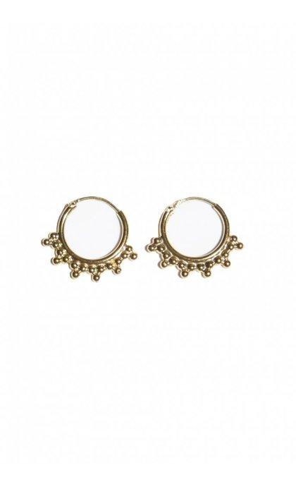 Fashionology Pablo Hoop earrings Goldplated