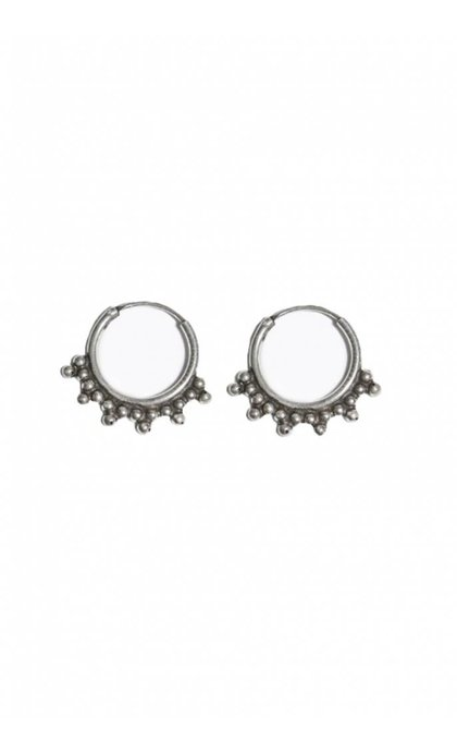 Fashionology Pablo Hoop Earrings Sterling Silver
