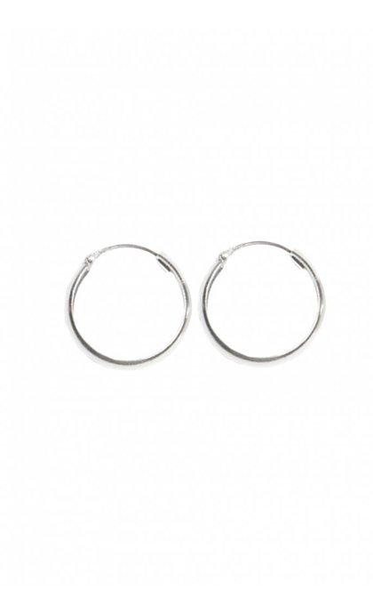 Fashionology Thick Hoop Earrings Sterling Silver 20mm