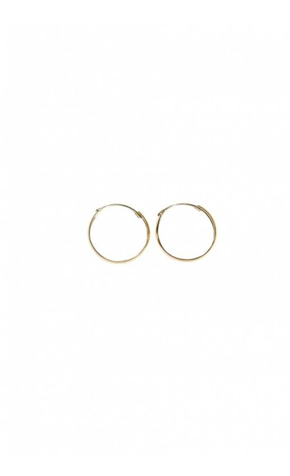 Fashionology Thick Hoop Earrings Gold Plated 15mm