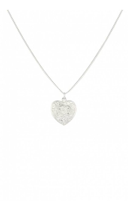 Wildthings Collectables Heart Locket Necklace Silver