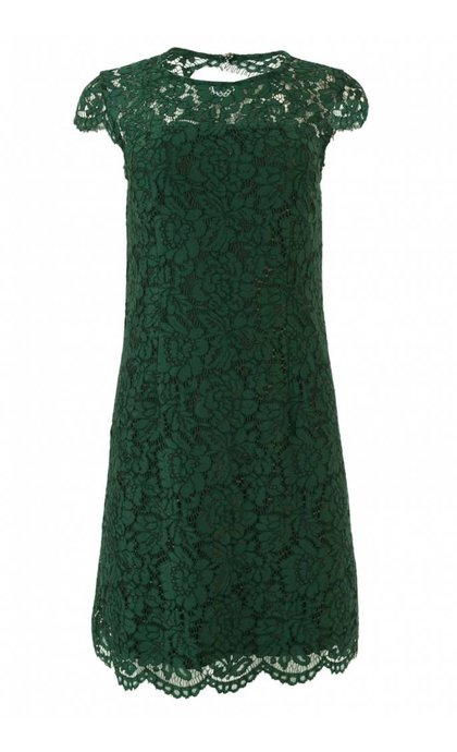 Mos Mosh Goldie Lace Dress Jade Green