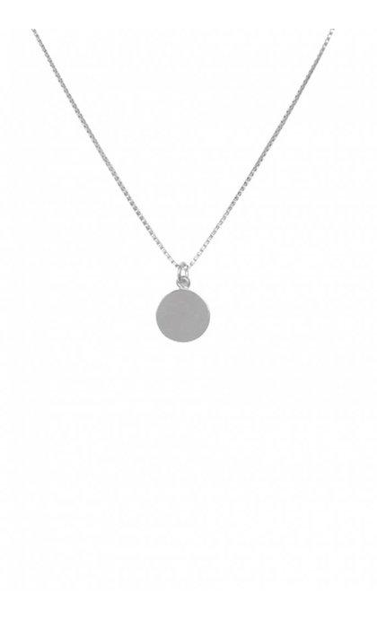 Anna + Nina Small Coin Necklace Silver