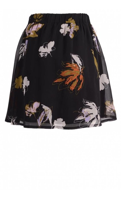 Gestuz Amali Skirt Black Flower