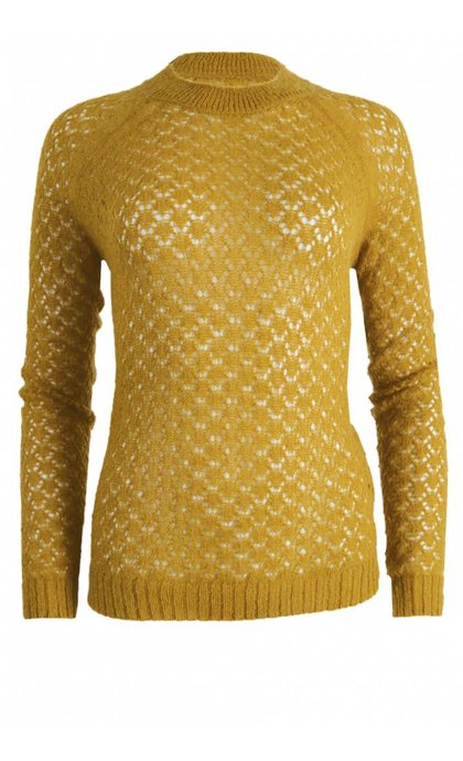 Alchemist Mohair Ajour Sweater Honey