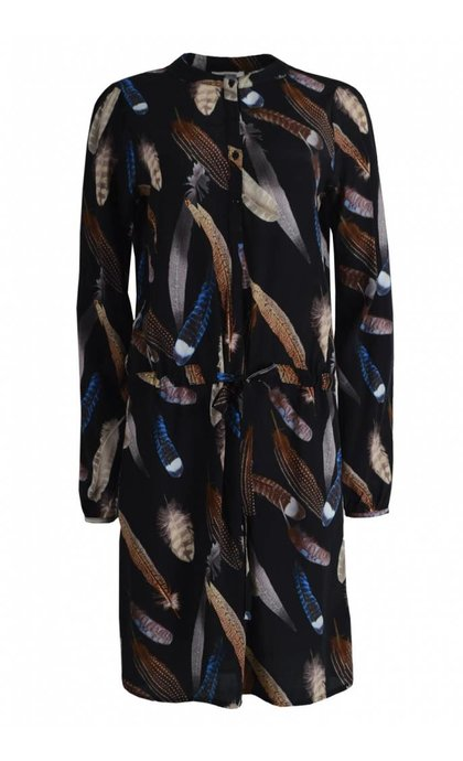 Alchemist Feather Print Dress