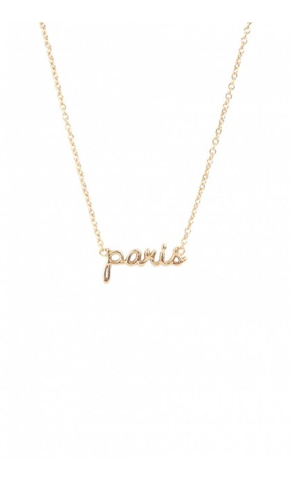 All the Luck in the World Urban Necklace City Paris Goldplated