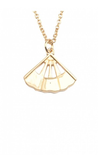 All the Luck in the World East Necklace Fan Goldplated