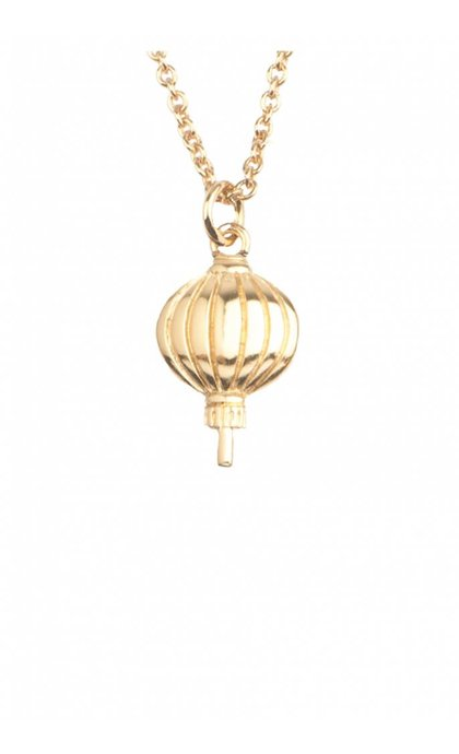 All the Luck in the World East Necklace Lantern Goldplated
