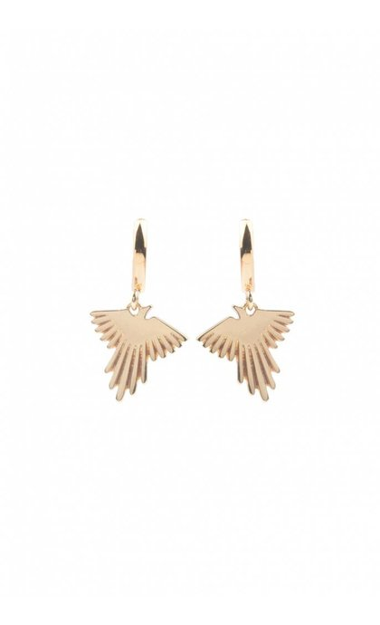 All the Luck in the World Souvenir Earrings Eagle Goldplated
