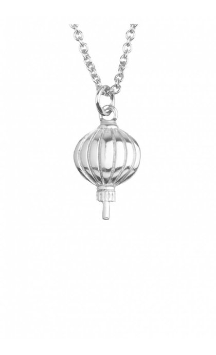 All the Luck in the World East Necklace Lantern Silver